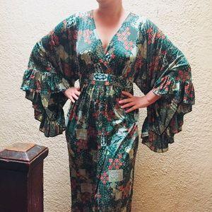 Amazing vintage 70s maxi dress